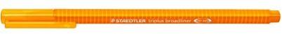 Staedtler 3384triplus braodliner trójkątny chwytem w etui z kartonu, metalizowane koronka, ok. 0,8MM, 10sztuk, pomarańczowy 338-4