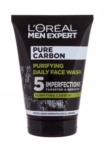 L´Oréal Paris L´Oréal Paris Men Expert Pure Carbon Purifying Daily Face Wash żel oczyszczający 100 ml dla mężczyzn