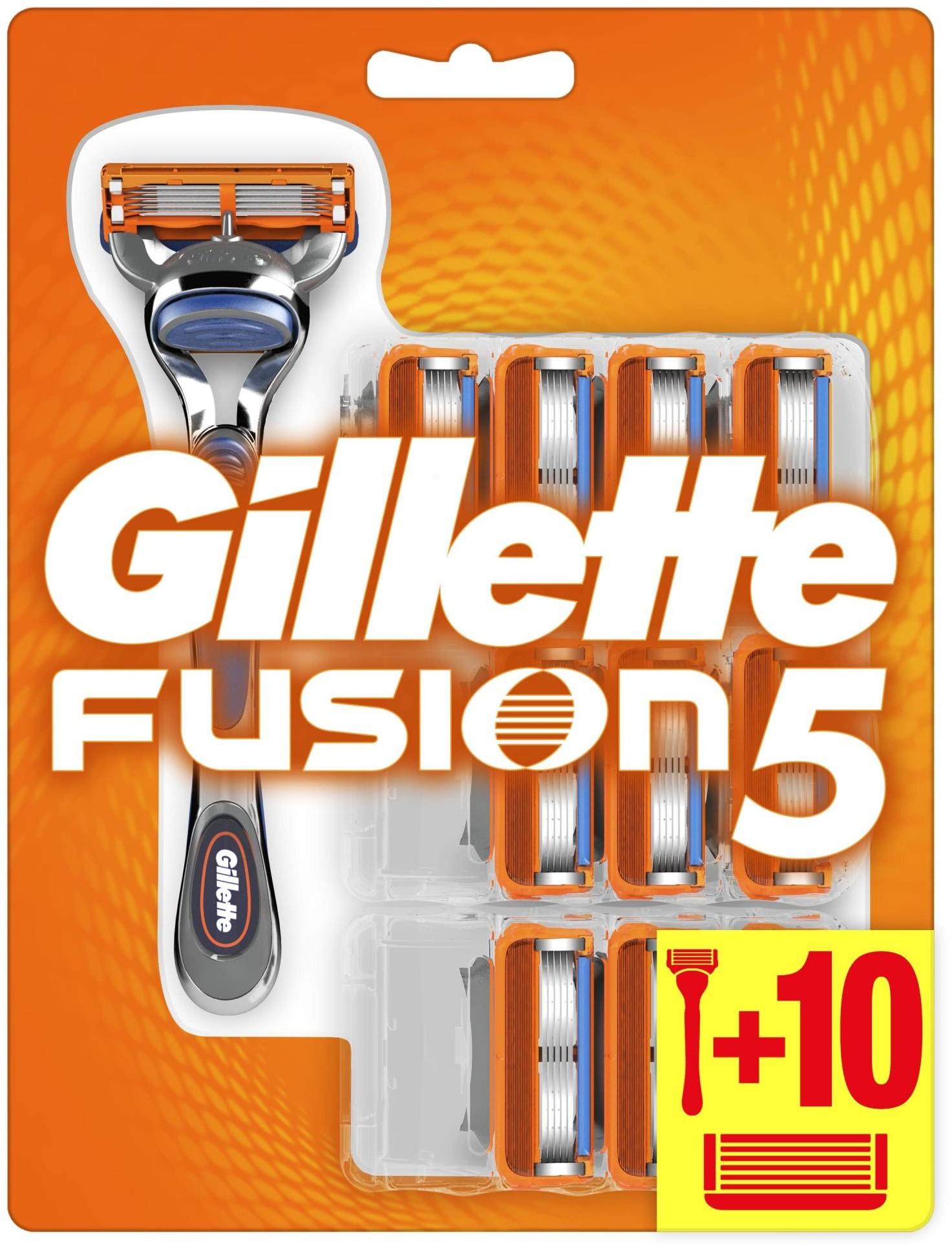Gillette maszynka do golenia męska Fusion5 + 10 głowic