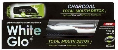 White Glo Charcoal Total Mouth Detox pasta do zębów z aktywnym węglem 100ml + szczoteczka 80307-uniw