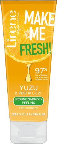Lirene Make Me Fresh! peeling do twarzy Yuzu & Pestki liczi 75ml