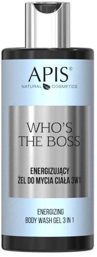 Apis Professional Who's The Boss Energizujący Żel Do Mycia Ciała 3w1 300ml AP6242