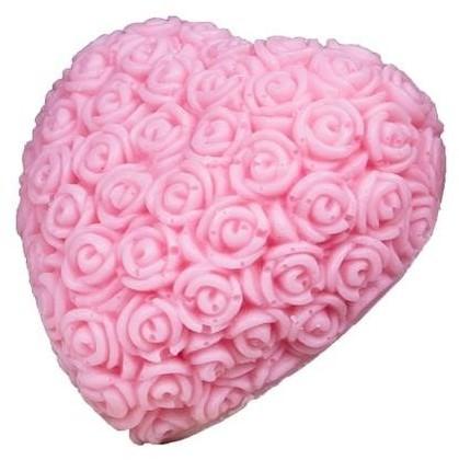 LaQ Happy Soaps Różowe Wielkie Serce naturalne mydło glicerynowe Wiśnia 140g 64102-uniw