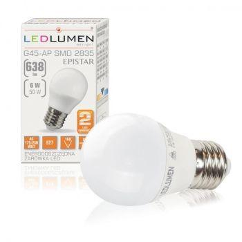LEDlumen Żarówka LED E27 6W 230V 638 lm 251090151