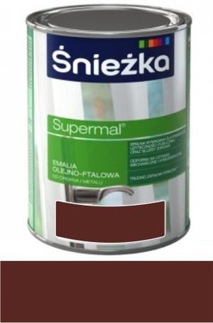 Śnieżka Emalia Supermal olejno-ftalowa brązowa RAL 8016 połysk 10l 124500