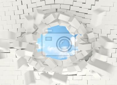 tiero Fototapeta 3d cegła streszczenie, ściana, nikt, otwarte, 3d