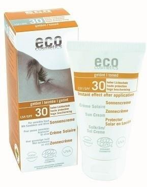 Eco Cosmetics Tonowany krem na słońce LSF/SPF 30 z rokitnikiem i oliwą z oliwek GreenLine-865-uniw