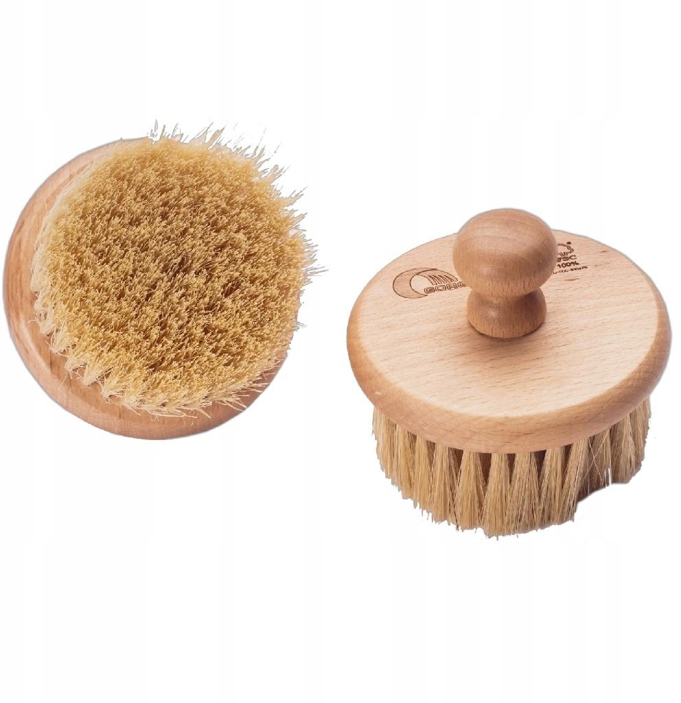 Szczotka do kąpieli masażu drewno + tampico