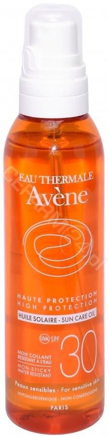 Avene Eau Thermale Olejek z wysoką ochroną przeciwsłoneczną SPF30+ 200ml
