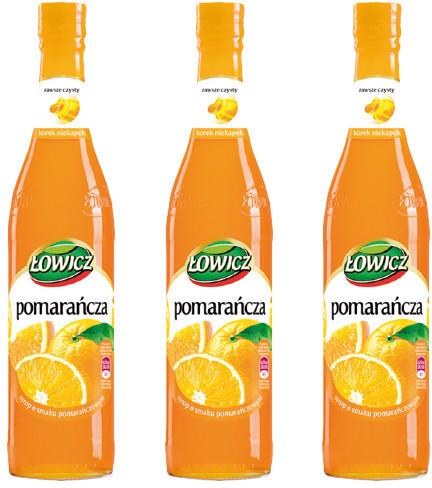 Łowicz Syrop owocowy - Pomarańcza 400ml