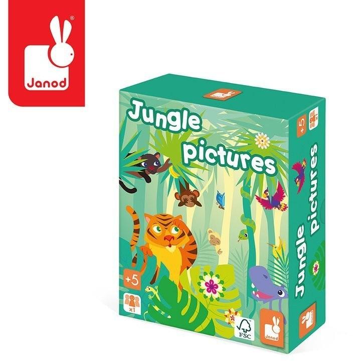 Janod Gra pamięciowa Obrazki z dżungli, solution-bc-7359-0