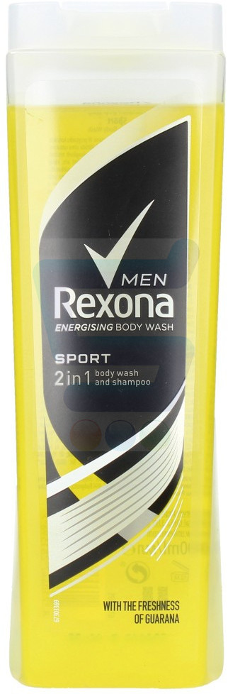 Rexona Men Żel pod prysznic 2w1 Sport 400 ml