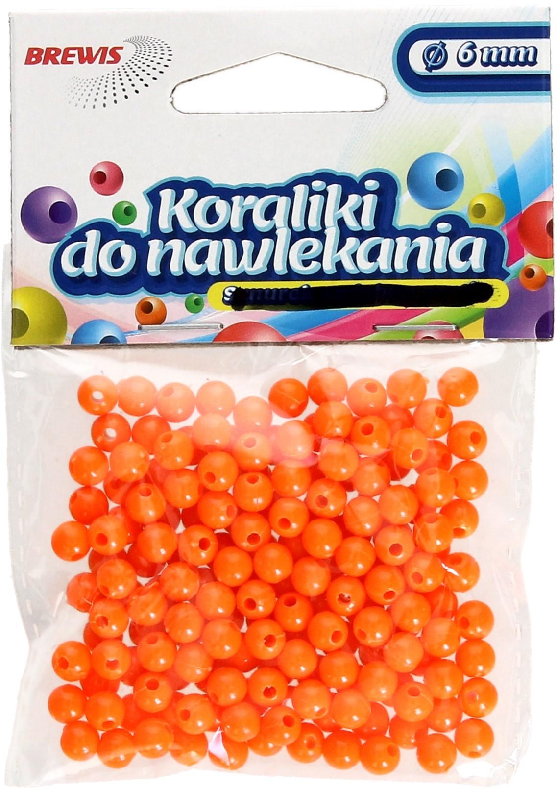 Brewis Koraliki ozdobne pomarańczowe K6 6mm VB8855