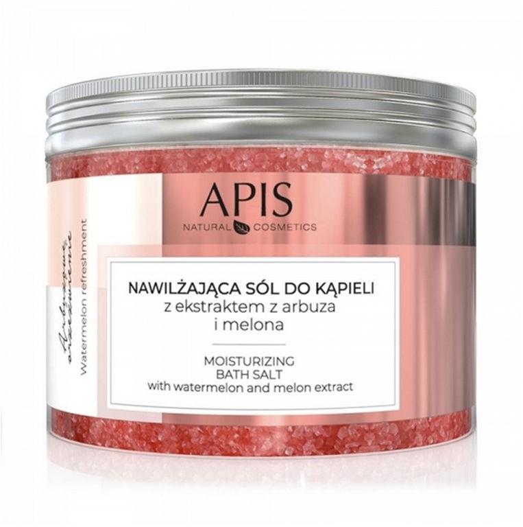 Apis Professional Arbuzowe Orzeźwienie Sól Do Kąpieli Nawilżająca z Ekstraktem z Arbuza i Melona 650g APIS9089