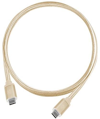 SilverStone SST-cpu06g-1000 notowano odwracalnej, USB 3.1 Gen 2 Typ C na typ C, wyjątkowo trwałe dzięki płaszcz z plecionki nylonowej, kabel USB do telefonów komórkowych i urządzeń pamięci masowej, 1 52036