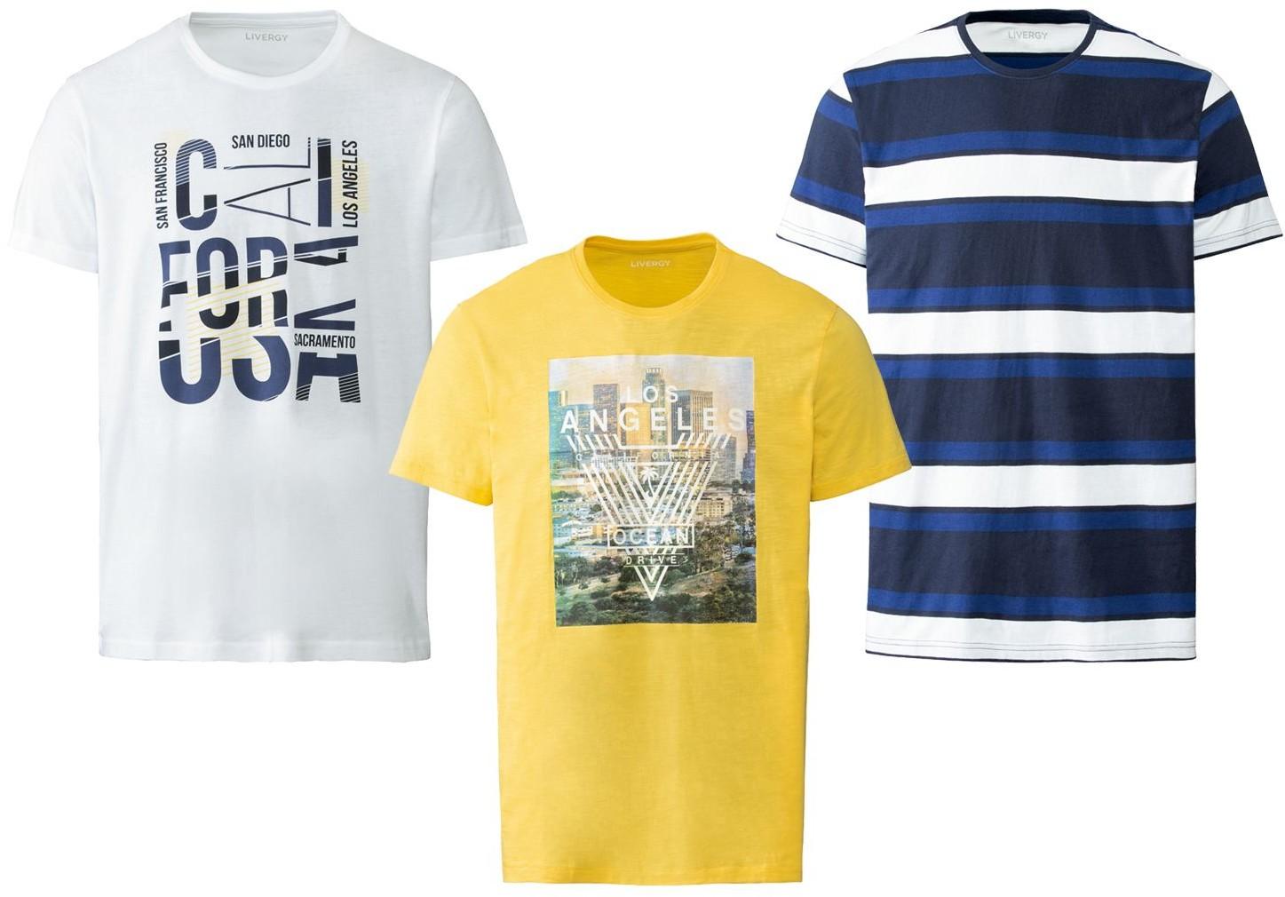 LIVERGY LIVERGY T-shirt męski, 1 sztuka