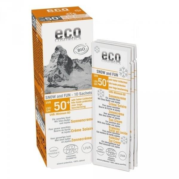 Eco Cosmetics SNOW & FUN Krem na słońce SPF 50+ (10 saszetek x 2 ml) C551
