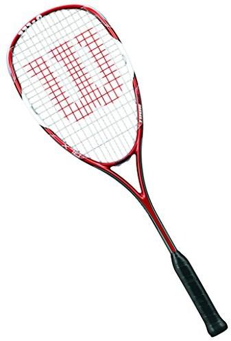 Wilson rakietki rakieta do squasha, dla kobiet i mężczyzn, dla zaawansowanych użytkowników, Tour 150, wrt91 2330, czerwony/biały WRT912330
