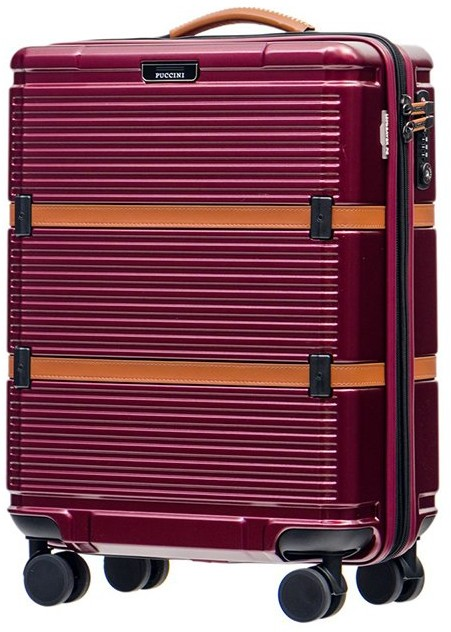 5c4c08f23ac0f Puccini Mała kabinowa walizka OCFORD PC023C 3B Bordowa - bordowy PC023C 3B