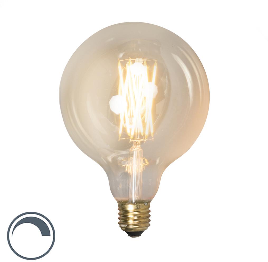 Calex Żarówka LED z żarnikiem G125 E27 4W ściemniana 01104