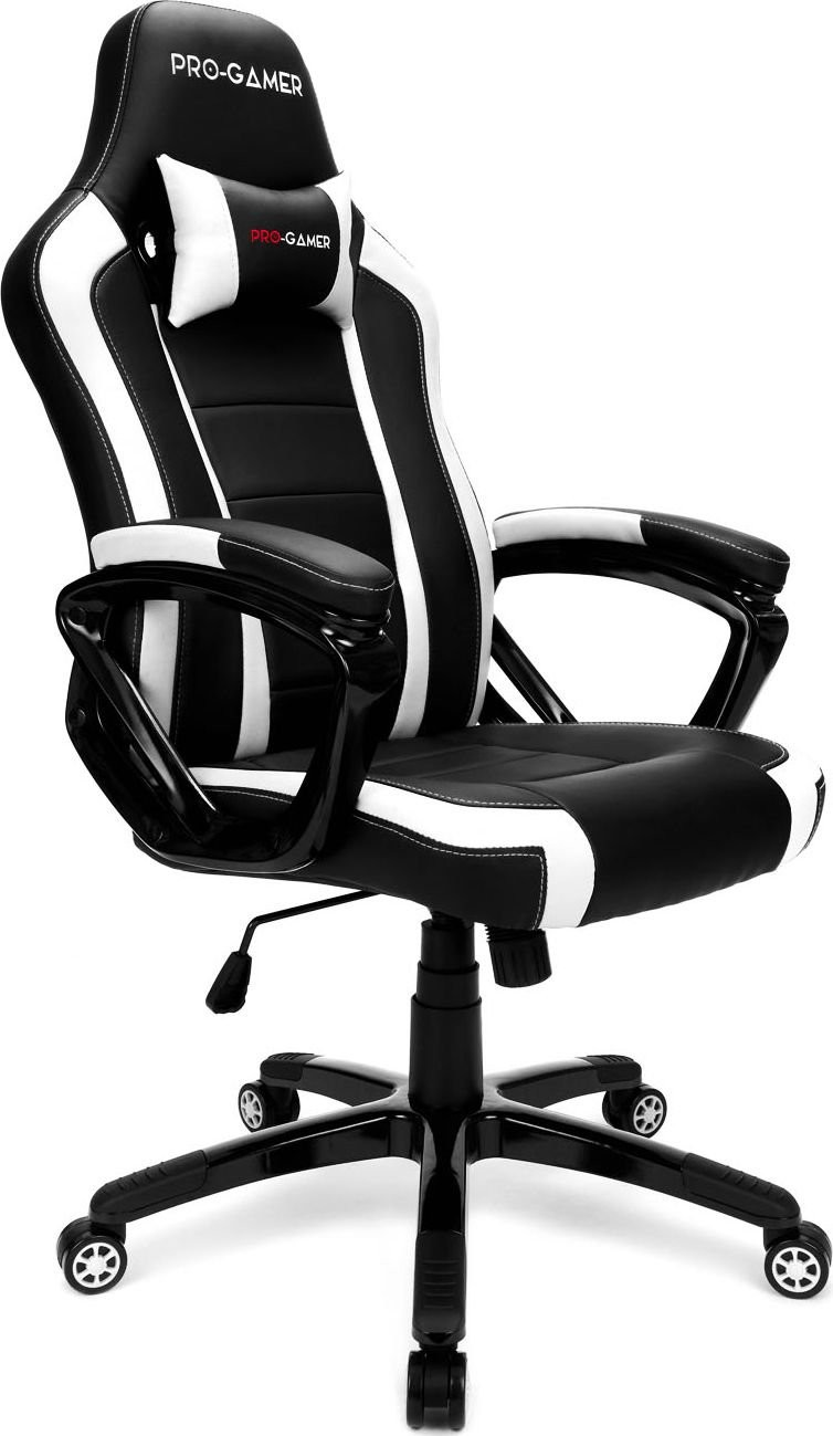 PRO-GAMER Fotel PRO-GAMER Atilla Czarno-biały