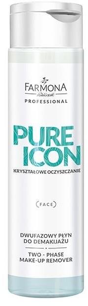 Farmona Professional Pure Icon Dwufazowy Płyn Do Demakijażu Oczu i Ust 200 Ml