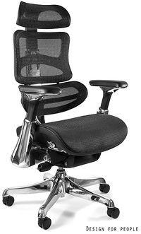 Unique Fotel ergonomiczny ERGOTHRONE Czarny Brak podnóżka Zapytaj o RABAT [Dostępny po 2019-10-04] CM-B37A