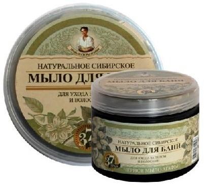 Pierwoje Reszenie Bania Receptury Babuszki Naturalne syberyjskie czarne mydło 500 ml