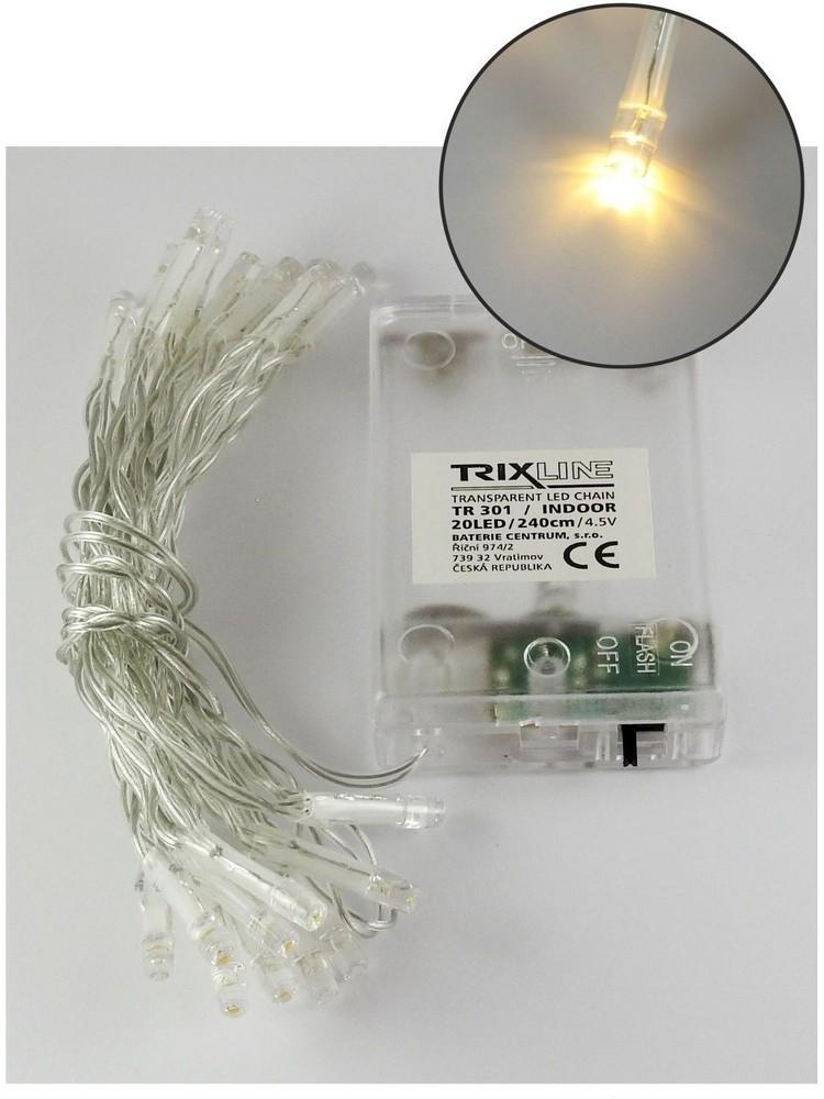 Baterie Centrum LED Łańcuch świąteczny 2,4 m 20xLED/3xAA 6500 K