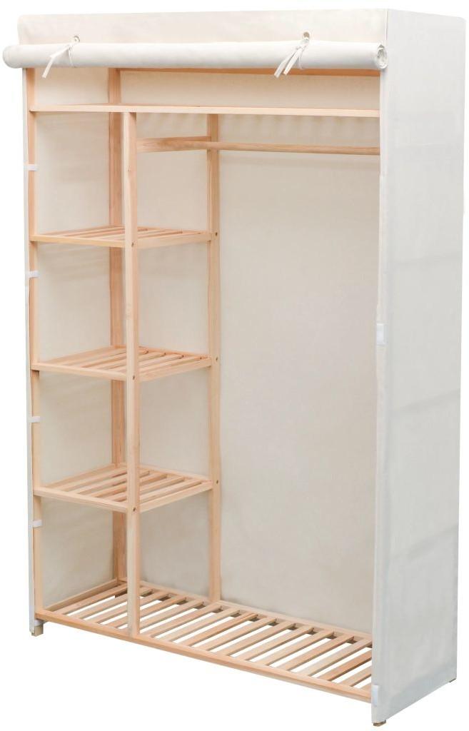 vidaXL Szafa z drewna sosnowego i tkaniny, 110 x 40 170 cm vidaXL
