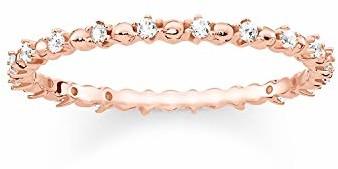 THOMAS SABO Damski pierścionek TR2153-416-14 srebro wysokiej próby 925; różowe złoto próby 750, cyrkonia, kolor biały, różowe złoto, biały, kolor: złoto, rozmiar: 52