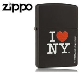 Zippo Zapalniczka Black Matte z logo I love NY Z24798
