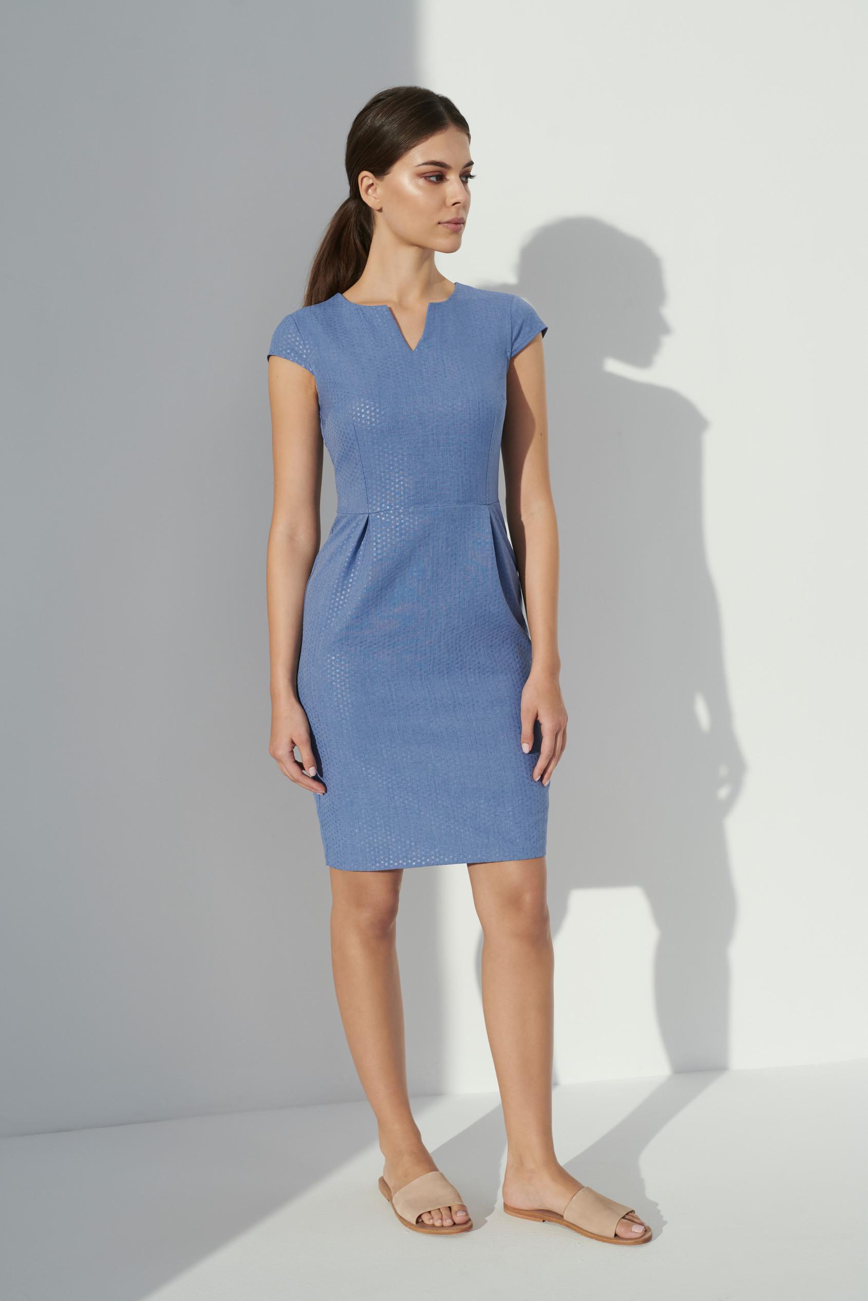 Greenpoint Elegancka sukienka SUK514S19BLLIG
