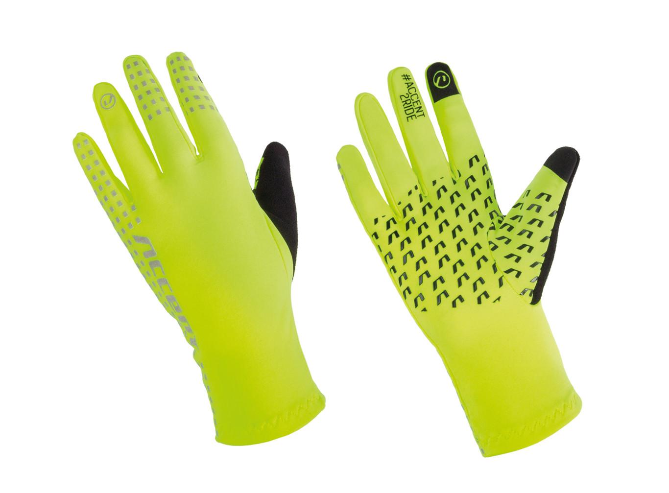 Accent Rękawiczki długie Gripper żółty / Rozmiar: L