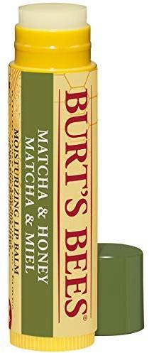 Burt's Bees 100% naturalny, nawilżający balsam do ust, matcha i miód z woskiem pszczelim i zielonym ekstraktem z herbaty, 9,07 g
