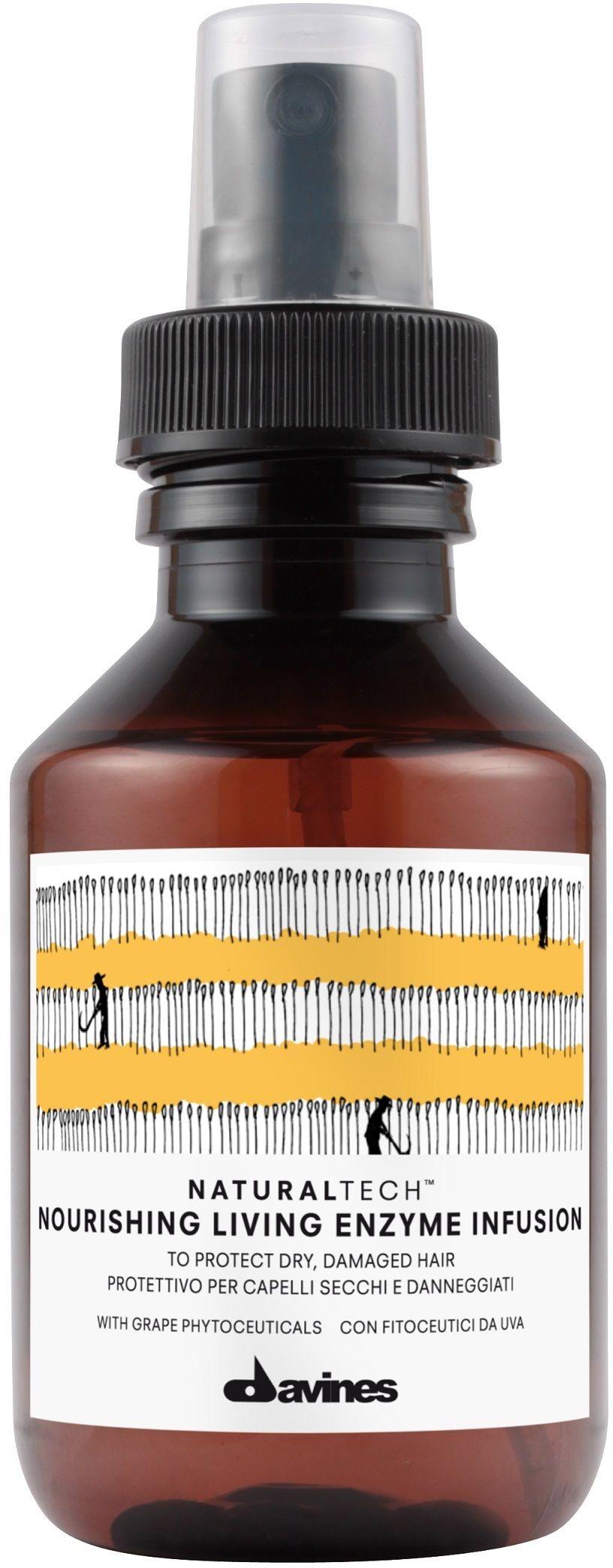 Davines Naturaltech NOURISHING living enzyme infusion - ochronny i pielęgnacyjny plyn do suchych i zniszczonych włosów 100ml