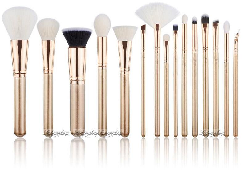 Jessup beauty JESSUP - Classics Alchemy Brushes Set - Zestaw 15 pędzli do makijażu - T406 Golden/Rose Gold