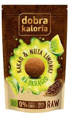 Dobra Kaloria | KUBARA sp. z o.o., ul. Bema 32, 42 Dobra Kaloria | KUBARA sp z o.o. ul Bema 32 42 Ciasteczka-kulki Kakao&Nuta limonki bez cukru 65 g Dobra Kaloria M00-F08C-34103