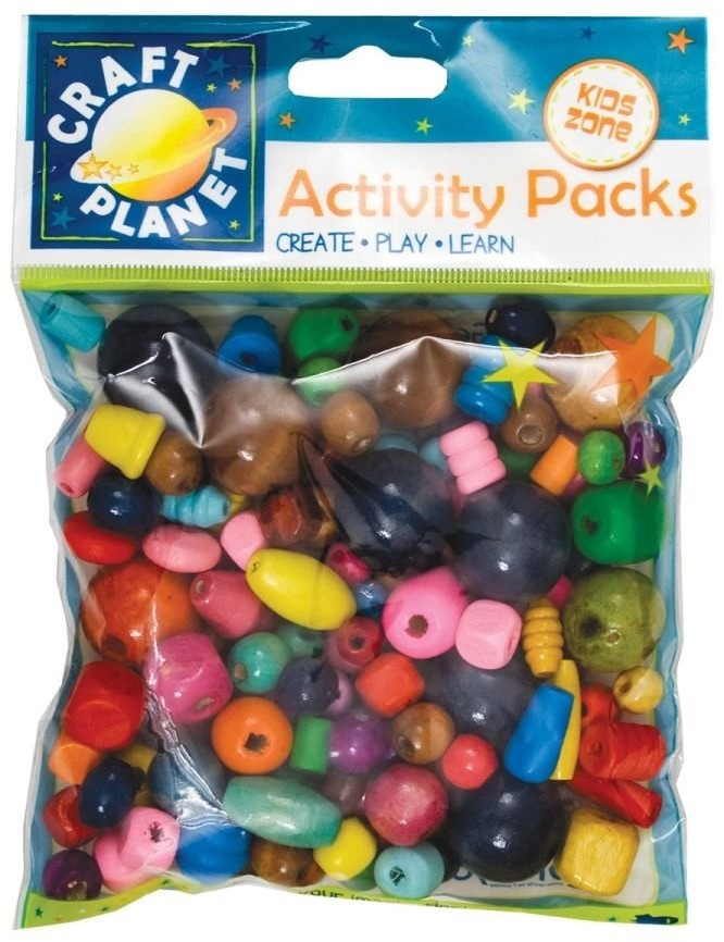 Design Objectives Design Objectives, koraliki drewniane, mix kolorów, 100 g