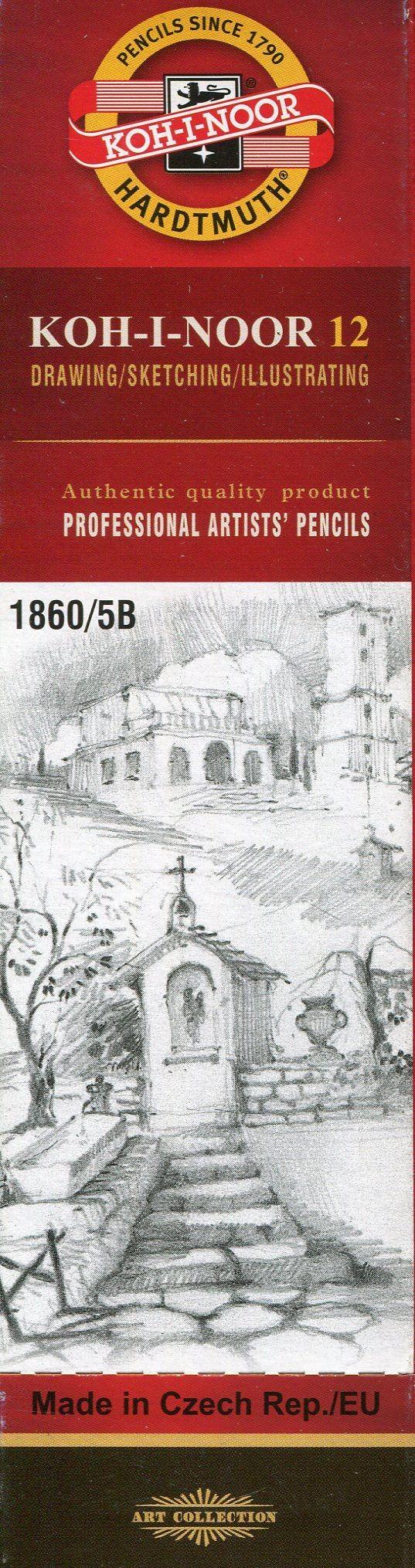 Koh-I-Noor Koh-I-Noor Ołówek grafitowy 1860/5B 12 szt