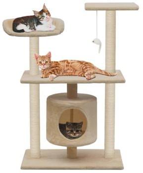 vidaXL Drapak dla kota ze sizalowymi słupkami 95 cm beżowy GXP-683115