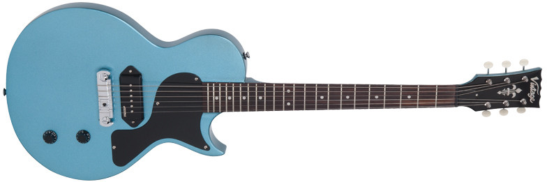 Vintage V120GHB - ELECTRIC GUITAR, GIN HILL BLUE 88014
