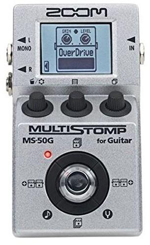 Zoom rozciąganie tomp MS-50G Single StompBox zapewnia gitara basowa 55efektów MS50G