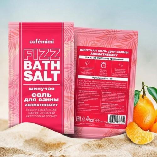 CAFE MIMI Musująca Sól do Kąpieli AROMATERAPIA 100g - CAFE M