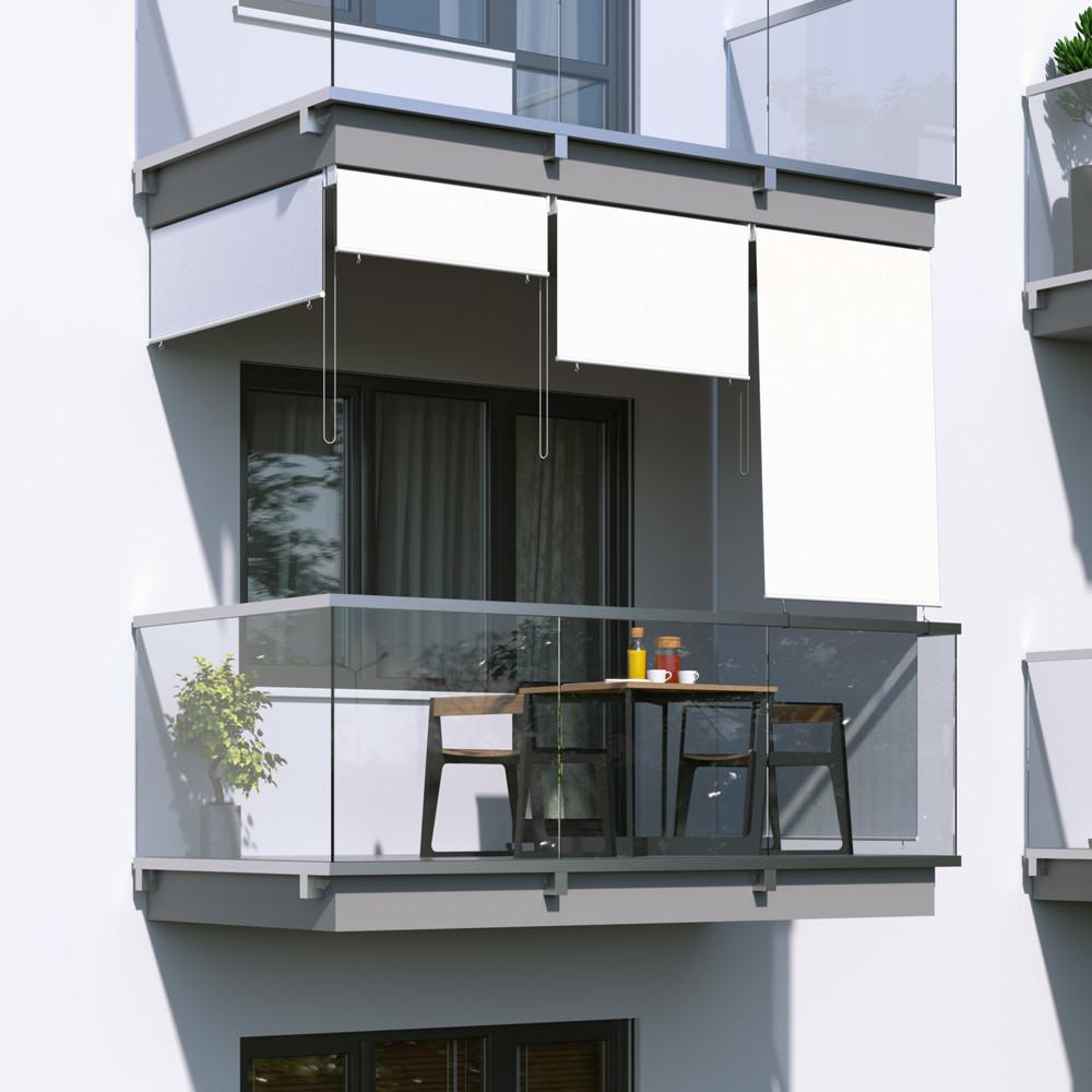 Jarolift Roleta na balkon/markiza pionowa, Biała, 180x240cm