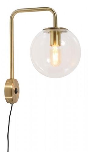 It's About RoMi LAMPA ŚCIENNA WARSAW WYS. 38CM, ŚR. 20CM, PRZEZROCZYSTY, ZŁOTY WARSAW/W/GO
