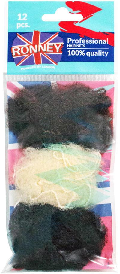 ronney RONNEY Profesjonalne siatki do włosów 12 szt (3222/MIX/12)