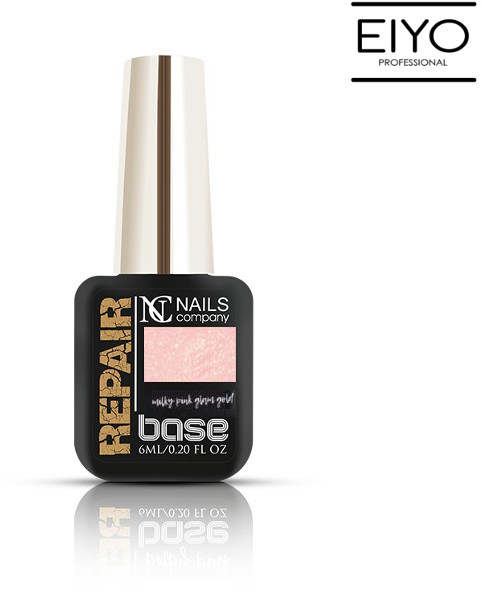 NAILS COMPANY REPAIR BASE Milky Pink Glam Gold Nails Company - 6 ml