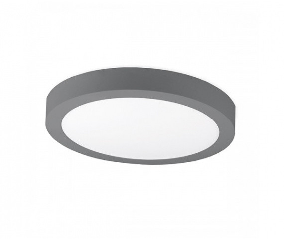 Kohl Lighting Plafon DISC SURFACE K50221.GY.3K 3000K 12W 768lm Kohl Lighting nowoczesna lampa sufitowa K50221.GY.3K