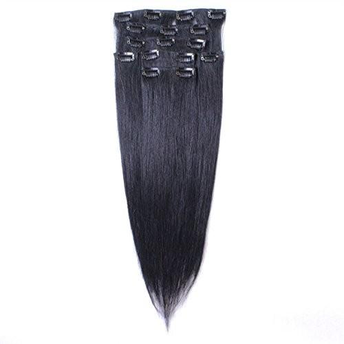 hair2heart Jakość Remy ludzki włos Clip In Extensions 50cm, 7taśm doczepianych na/części do włosów, kompletnego przedłużania włosów,wiele innych kolorów, bardzo dobra jakość 4260352359287